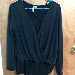 Francesca's cross string blouse